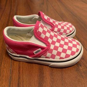 Toddler Vans checkerboard slip ons